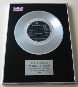 ANIMALS - THE HOUSE OF THE RISING SUN Platinum Single Presentation DISC